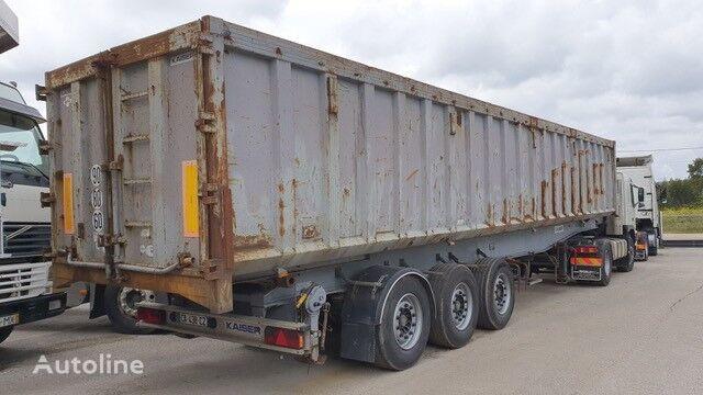 KAISER / Back kipper trailer alu chassi / Steel box 52 m3 tipper semi-trailer